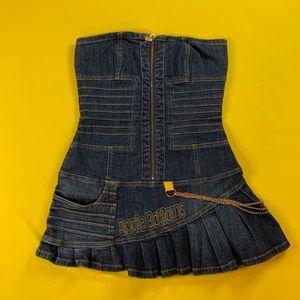 Denim Mini Dress by Apple Bottom
